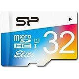 シリコンパワー microSDHCカード アダプタ付 32GB UHS-1対応 【最大読込85MB/s】 防水 防塵 耐X線 永久保証 Eliteシリーズ  SP032GBSTHBU1V20NE