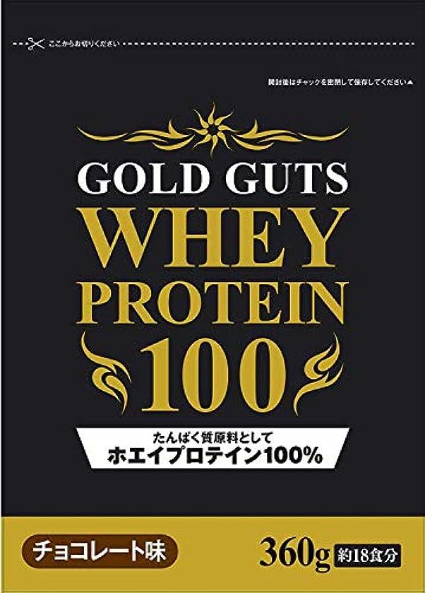 動脈工夫する大佐GOLD GUTS ゴールドガッツホエイプロテイン100% チョコレート味 360g