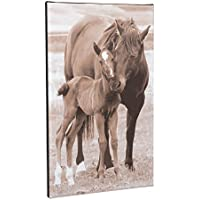 Holly and Spoon Horses 10 x 16インチキャンバスHanging Wall Plaque Sign