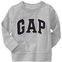 GAP(ギャップ)baby GAP baby GAP kids ロゴ トレーナー 長袖 (ピンク色・紺色・灰色・赤色)【月齢:2歳・3歳・4歳】(並行輸入品) (4YRS(4歳), 灰色)