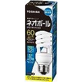 東芝 電球形蛍光ランプ ネオボール60WタイプD形 3波長形昼光色 EFD15ED/12-EC