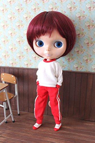 (ドーリア)Dollia ブライス 1/6ドール用 アウトフィット 体操服 ジャージセット レッド 学生風 2点セット ネオブライス ドール 人形