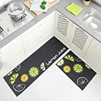 Super Kh® キッチンカーペットノンスリップ吸収マットレスバスルームベッドサイドの汚れにくいフロアマット (色 : 2#, サイズ さいず : 40x60CM+40x120CM)