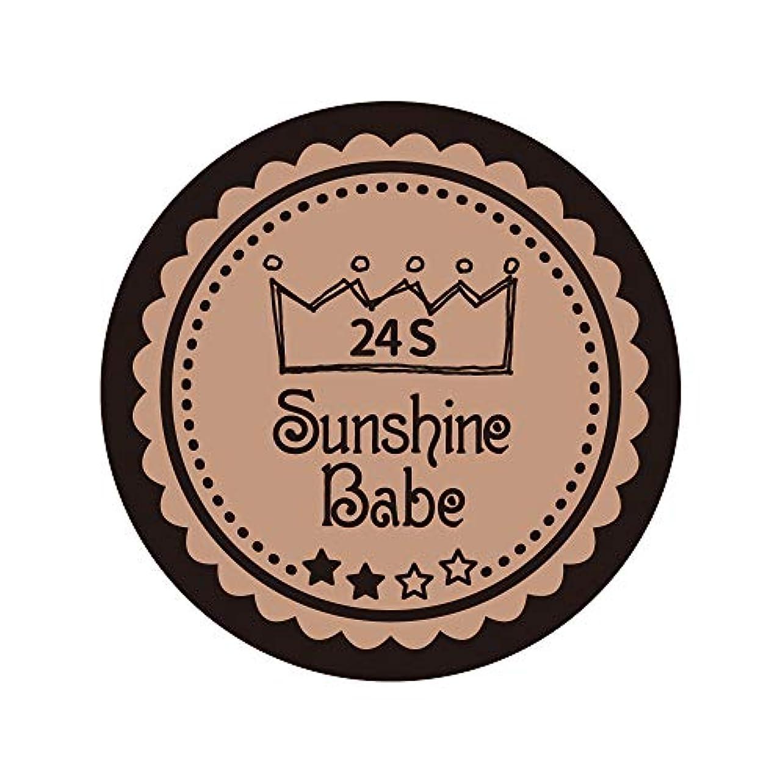 繊維歩く悲鳴Sunshine Babe カラージェル 24S ベージュローゼ 2.7g UV/LED対応