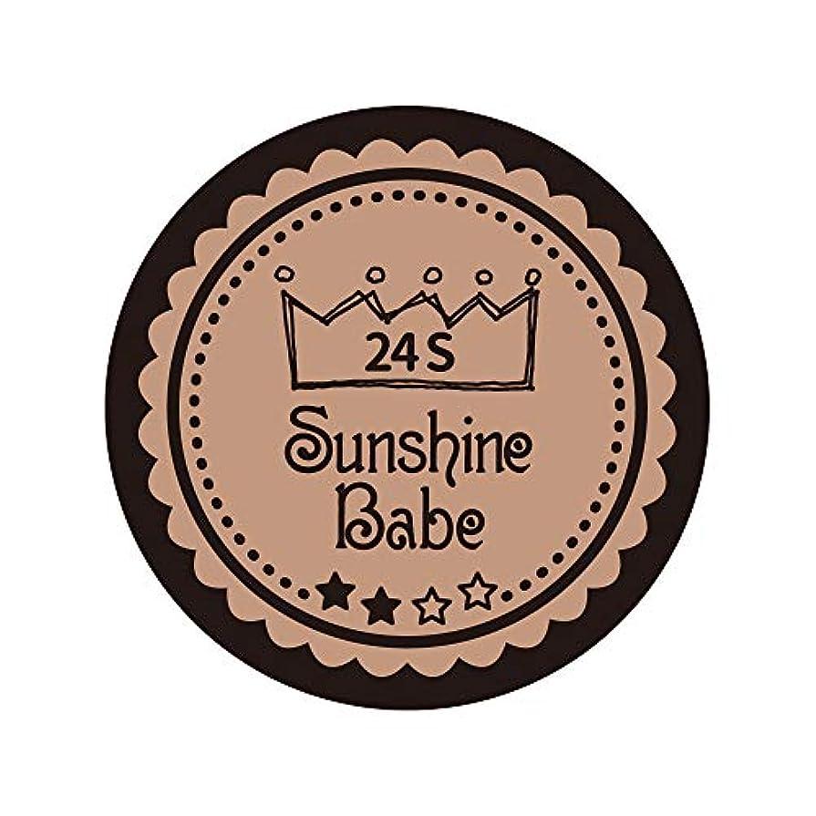 受粉者禁輸揺れるSunshine Babe カラージェル 24S ベージュローゼ 2.7g UV/LED対応