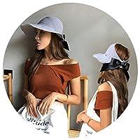 韓国の女性のための折り畳み式の空の日焼け防止日焼け防止帽子夏の紫外線保護屋外の野生の旅行,灰色,調整可能