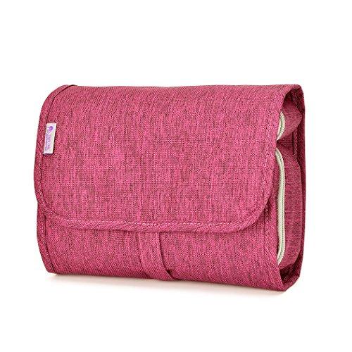 Mardingtop バスルームポーチ トラベルポーチ 洗面用具 洗面カバン 化粧ポーチ コスメポーチ (ピンク)