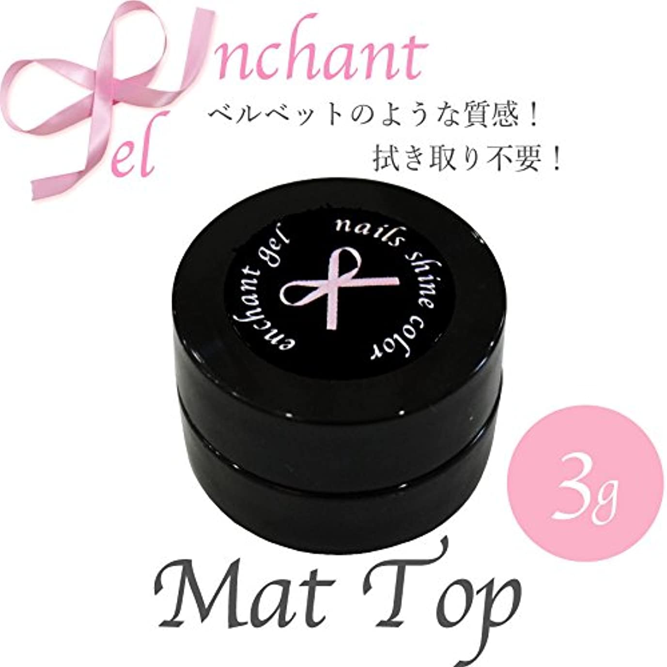 ピジンバケツ平らにするenchant gel mat top coat gel 3g/エンチャントジェル マットトップコートジェル 3グラム
