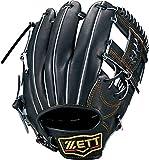 ZETT(ゼット) 軟式野球 グラブ (グローブ) プロステイタス セカンド・ショート用 右投げ用 ブラック(1900) 専用グラブ袋付き サイズ:3 BRGB30040