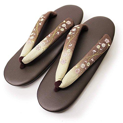 ウレタン草履 ぼかしと刺繍が可愛い草履 (10色) 草履 ウレタン草履 (【005】ぶらうん)