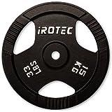 IROTEC (アイロテック) アイアンプレート15KG / バーベル兼用プレート ベンチプレス スクワット ダンベル
