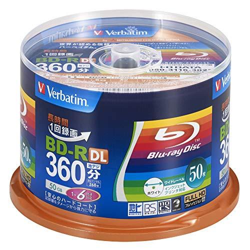 三菱ケミカルメディア Verbatim 1回録画用 BD-R DL VBR260RP50SV1 (片面2層//1-6倍速/50枚)