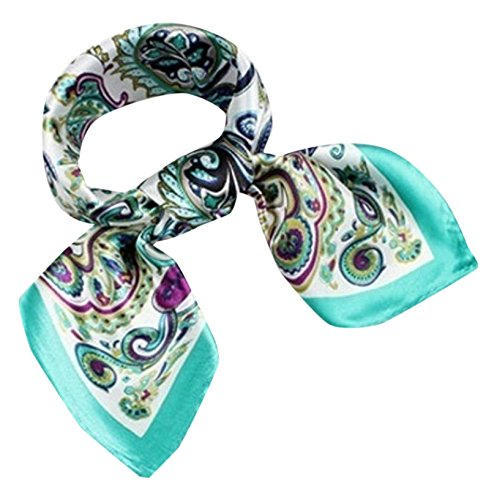 (Rosie) Rosy * [Paisley silk-style scarf] fashionable square Tsuiri bag Chou head dress belt bracelet winding arrange free trend