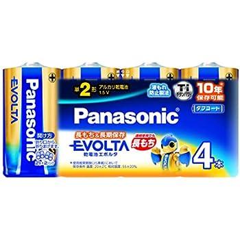 パナソニック エボルタ 単2形アルカリ乾電池 4本パック LR14EJ/4SW