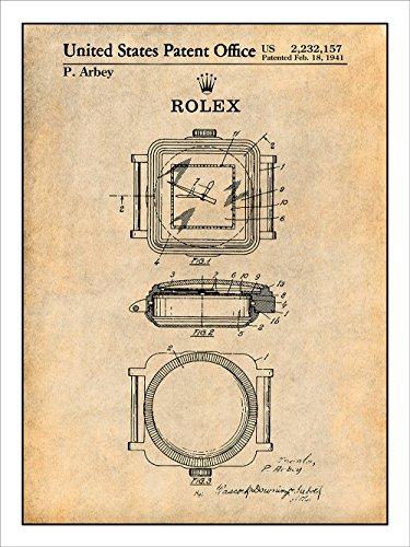 1941Rolex Watch特許印刷アートポスター額なし...