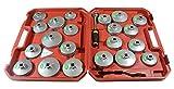 SEIKOH オイルフィルターレンチ アルミカップレンチ オイルカップレンチ ハードケース付 カップ対応サイズ 14種 計21個セット