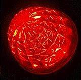 高輝度 16連 LED クリスタル 8面 カット トラック バス サイドマーカー ランプ 10個 セット 24V 車 専用 防水 加工 選べる カラー 色 (04: 赤)