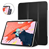MoKo Case Fit iPad Pro 12.9 - Slim Lightweight Smart Shell Stand Cover with Strong Magnetic Adsorption and 360 Degree Rotating Fit Apple iPad Pro 12.9 - Black (Auto Wake/Sleep)