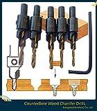 ドリルビット 面取り ウェードドリル 皿穴ドリルビット セット コンクリート 木材皿穴ネジ 工具