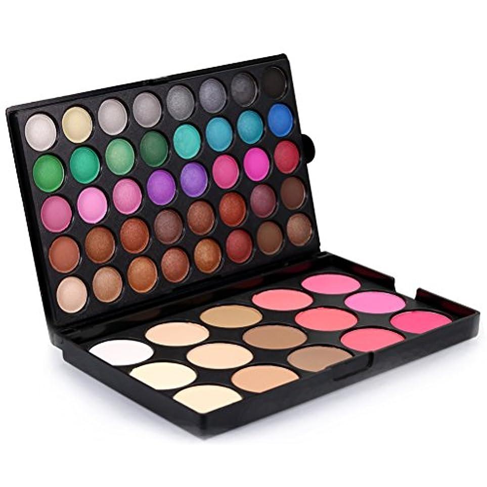 影のある区別雇う(メイクアップエーシーシー) MakeupAcc メイクパレット アイシャドウパレット 55色 チークカラー ハイライト 多機能 プロ用 人気 口紅 落ちない