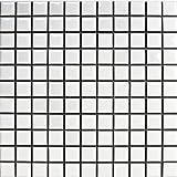 廣美陶房 モザイクタイル 25ミリ角 白色ブライト N-1
