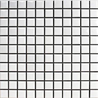 RoomClip商品情報 - 廣美陶房 昔ながらのモザイクタイル 25mm角 白色ブライト N-1