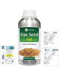 Flax Seed (Linum usitatissimum) 100% Natural Pure Undiluted Uncut Carrier Oil 2000ml/67 fl.oz.