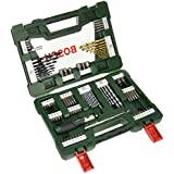 Bosch V-Line Titanium and Screwdriver Drill Bits with Ratchet Screwdriver (91 Piece Set)