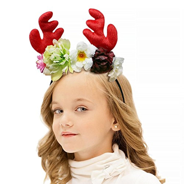 onshineユニコーンヘッドバンドユニコーン誕生日パーティーフラワー帽子クラウンwith Glitter耳子供と大人 One Size ピンク Onshine-LJFDH1