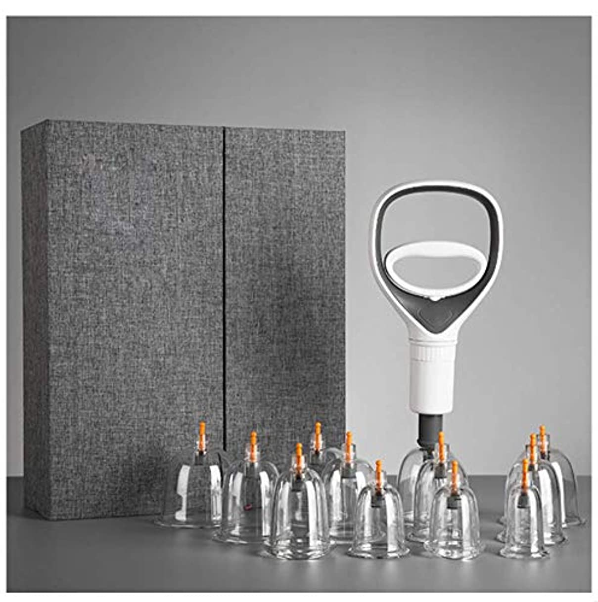 方法論債務者出席する真空カッピング、サクションカップ鍼治療キット、耐久性のある新しくデザインされたポンプハンドルと延長チューブ、マッサージカッピング療法セット