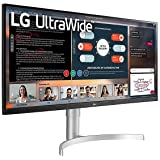 "LG 34WN650-W 34"" UltraWide WFHD IPS Monitor with 3-Side Borderless, FreeSync 75Hz Refresh Rate, Display HDR400"