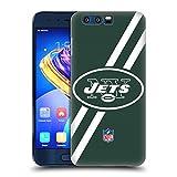 オフィシャル NFL ストライプ ニューヨーク・ジェッツ ロゴ ハードバックケース Huawei Honor 9