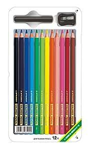 三菱鉛筆 色鉛筆 890 スタンダード 12色 K89012CS