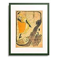 アンリ・ド・トゥールーズ=ロートレック Raymond de Toulouse-Lautrec-Monfa 「Lithograph Jane Avril. 1893.」 額装アート作品