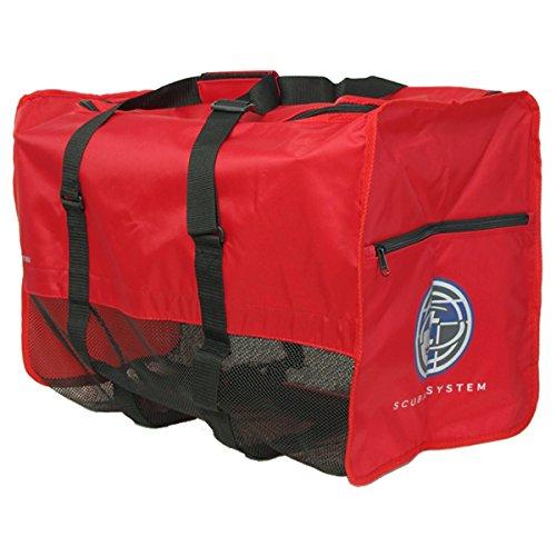 TUSA(ツサ) ダイビング メッシュバッグ BA0105 RED(レッド)
