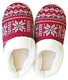 ダイカイ スリッパ ボア レディース 秋冬 ルームシューズ 小雪 RD M(22~24cm)外寸,27cm Knit slippers(ニットスリッパ) 73196