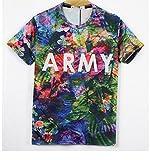 (ピゾフ)Pizoff Tシャツ メンズ スリム 半袖 ユニセックス (XL Y0513 11)花柄 総柄 可愛い モード系 通学 ファッション ヒップホップスタイル 男女兼用 トップス