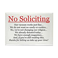 CafePress - No Soliciting Rectangle Magnet - Rectangle Magnet, 2x3 Refrigerator Magnet by CafePress
