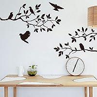 Onlymygodツリー鳥の寝室のリビングルームの背景52x48cm