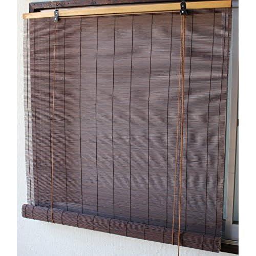 (Nature Breeze)天然竹使用 竹すだれ サイズ幅88×丈180cm 1本売り アッシュブラウン色