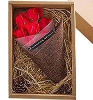 SACHI ソープフラワー 花束 フレグランス フラワー ギフト 母の日 父の日 誕生日 結婚 記念日 クリスマス プレゼント (赤 7本)