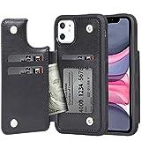 iPhone 11 ケース 手帳型 ワイヤレス充電対応 米軍軍事規格 スマホケース iPhone11 カバー Arae カード収納 ポケット付き アイフォン 1..