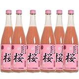 米麹 甘酒 三崎屋醸造 人気 ストレート甘酒 桜 740g×6本 あまざけ 紅麹 桜色の甘酒 ギフト さくら甘酒 新潟 あま酒