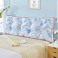 綿のベッドクッション、リムーバブルと洗える畳のソフトバッグダブルベッドのバックレスト (色 : D, サイズ さいず : 120 * 50cm)