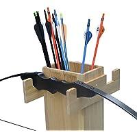 Tongtu Outdoor アーチェリー 矢筒 矢印バッグ 弓袋 弓スタンド 弓道具 ウエストベルト ホルダー バッグ 耐久性 多機能 木製