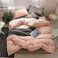 無地シンプル 4ピースベッド 寝具 掛け布団カバー シート 枕カバー,03,1.5Bed-mattress