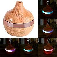 アロマディフューザー - Delaman 卓上加湿器、木目調、7色変換