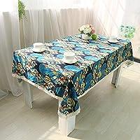 XixuanStore テーブルクロスコットンリネンテーブルクロスエスニック風プリントテーブルクロスレトロ布茶布 (Color : B, サイズ : 140*220cm)