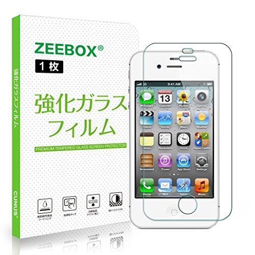 iPhone 4S / 4 強化ガラスフィルム Zeebox iPhone 4 4S用 液晶保護フィルム 超薄0.26mm 【硬度9H / 気泡ゼロ / 飛散防止 / 指紋防止】 耐衝撃 高感度タッチ 自己吸着 2.5D ラウンドエッジ加工
