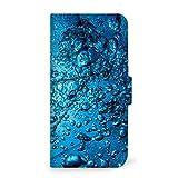 mitas iPhone8 ケース 手帳型 水 海 ガラス B (249) SC-0342-B/iPhone8